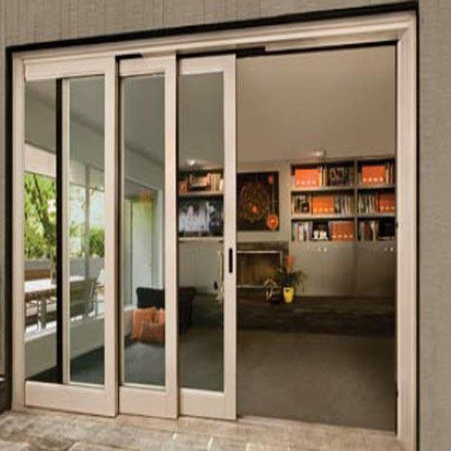 Brown Industrial Upvc Sliding Door