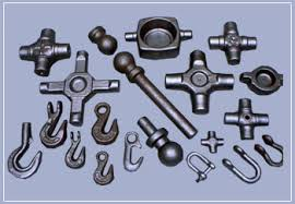 Industrial steel forging components