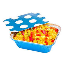 Disposable food foil container